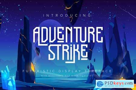Adventure Strike Futuristic Display Typeface