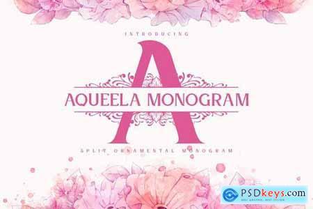 Aqueela Split Monogram Font