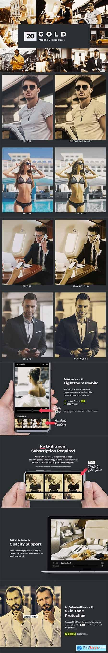 20 Gold Lightroom Presets and LUTs 27986347