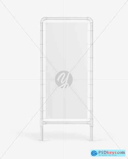 Plastic Stand w- Matte Banner Mockup 64214