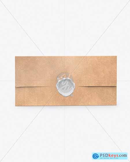 Kraft Envelope With Seal Mockup 64181