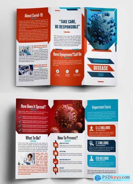 Coronavirus Trifold Brochure Layout 370002785