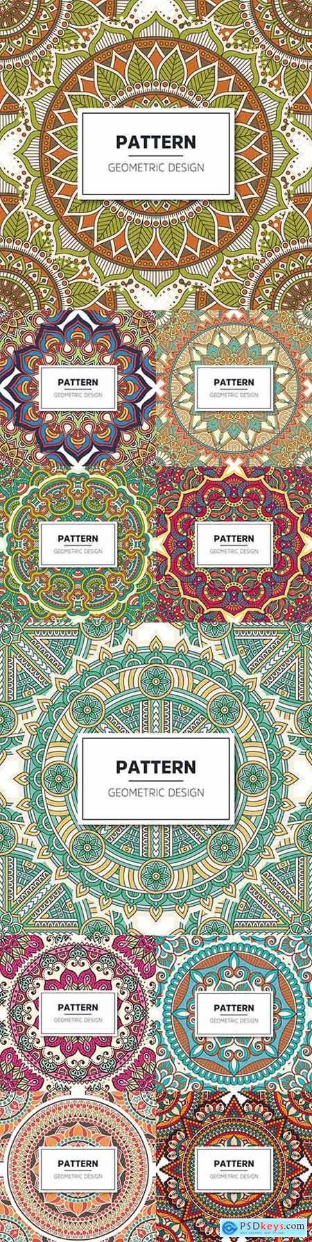 Elegant floral mandala luxury pattern vintage design