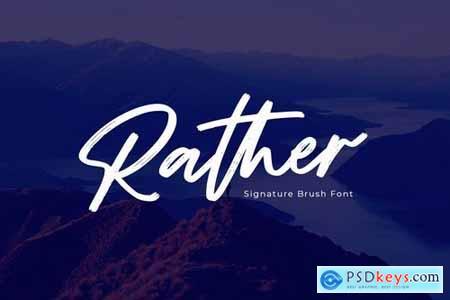 Rather - Brush Font