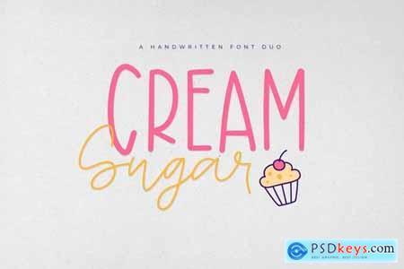 Sugar Cream - Handwritten Font Duo