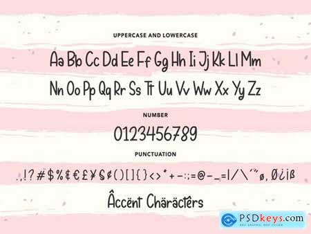 Peachyday YH - Display Handwriting Font