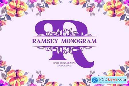 Ramsey Split Monogram Font