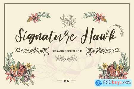 Signature Hawk - Script Font