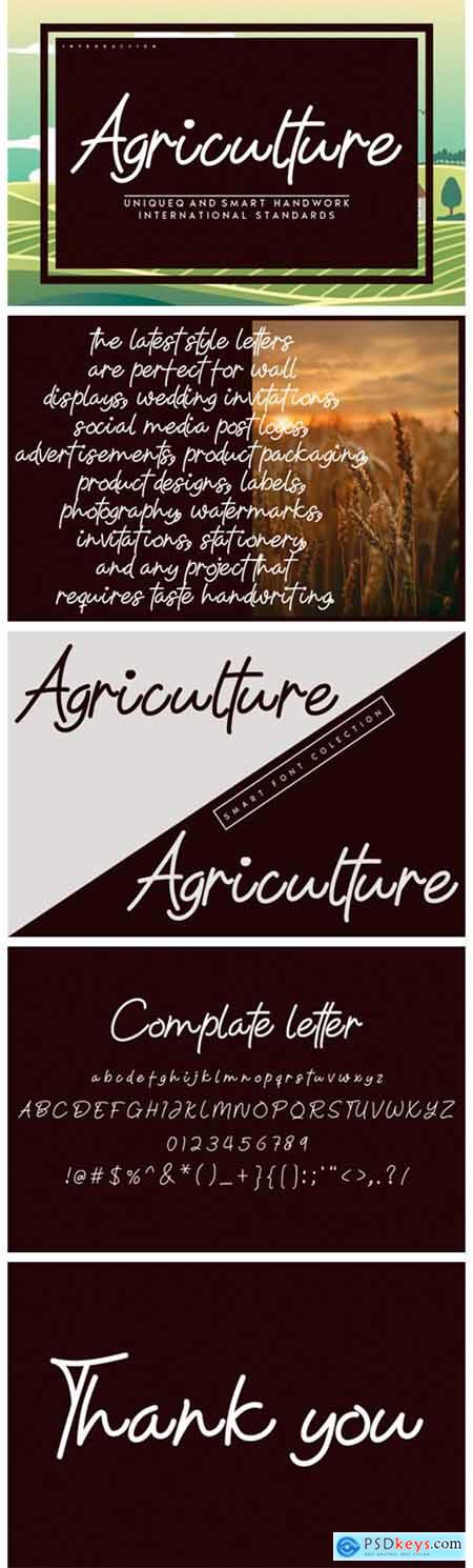 Agriculture Font