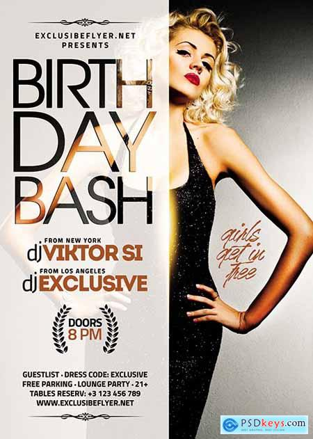 Birthday Bash Flyer – Club A5 Template