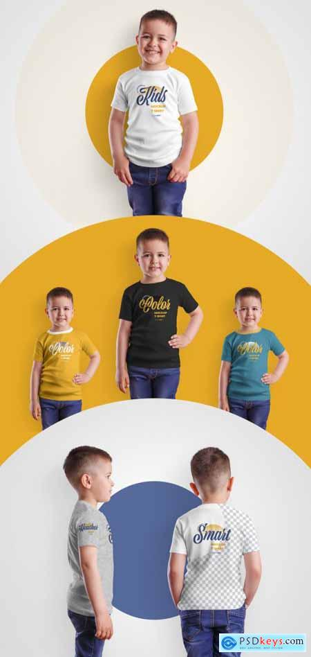 4 Kids T-Shirt Mockups for Boys 370583309