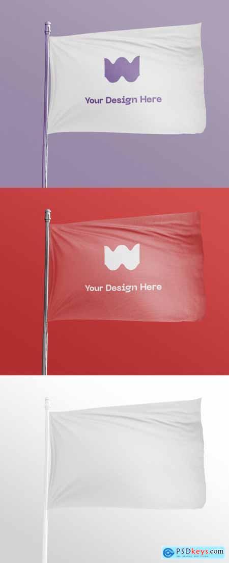 Waving Flag Mockup 369759761
