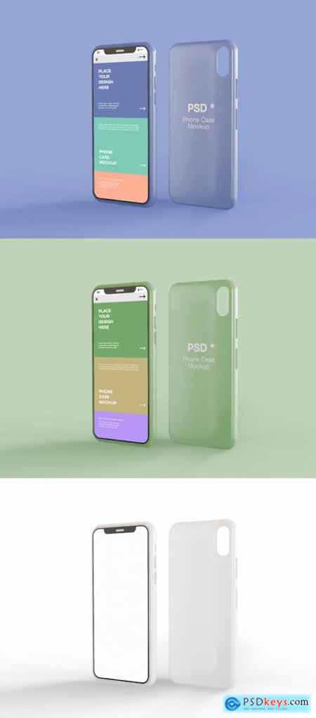 Smartphone Screen and Case Mockup 369738046