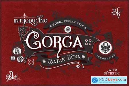 Gorga Ethnic Display Font 5263400