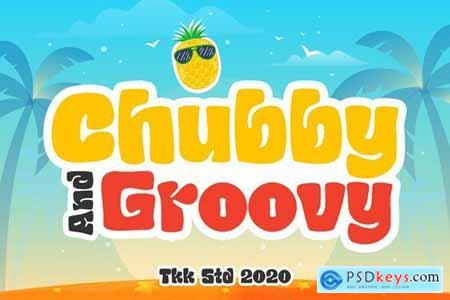 Chubby and Groovy - children retro font
