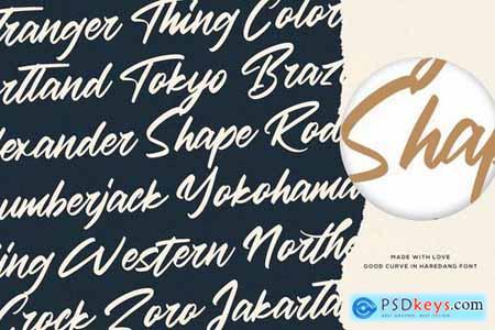 Haredang - Bold Script Font 5199198