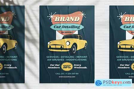 Vintage Car Wash Promotion