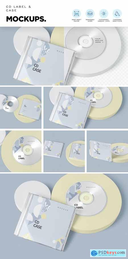 CD Label & Case Mockups
