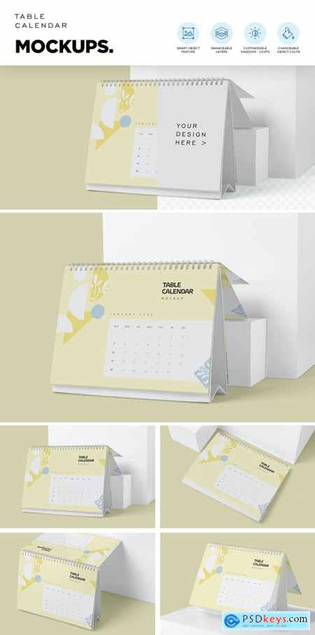 Table Calendar Mockups