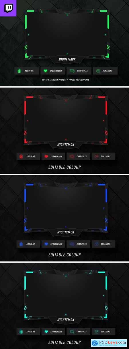 Twitch Facecam Overlay V12