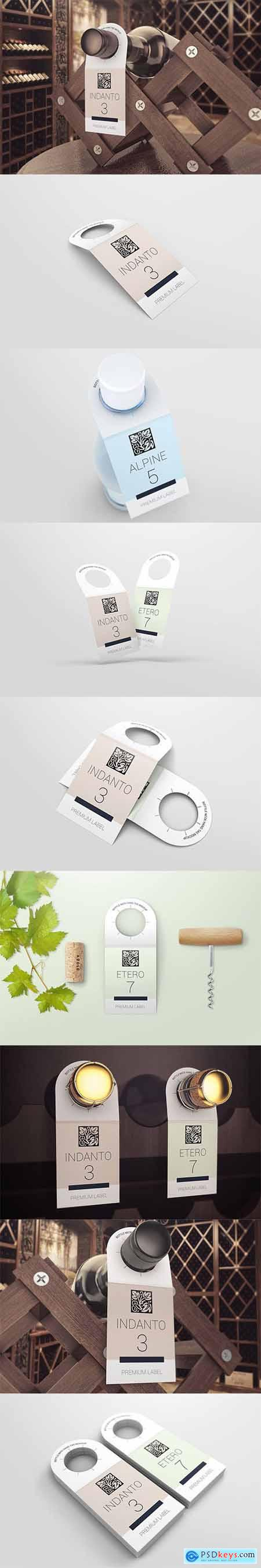 Bottle Neck Hang Tag Mockup