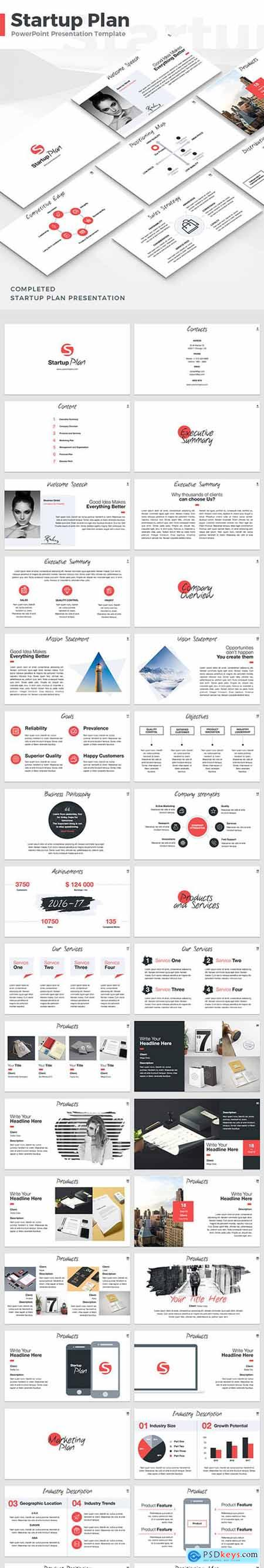 Startup Plan - PowerPoint Template 18971690