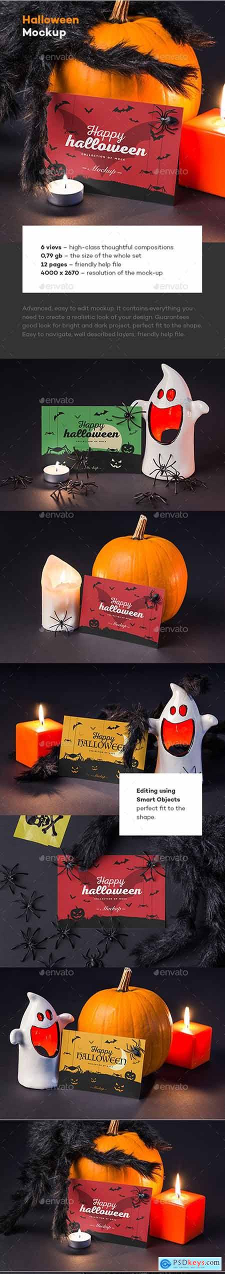 Halloween Card Mock-up 22727163