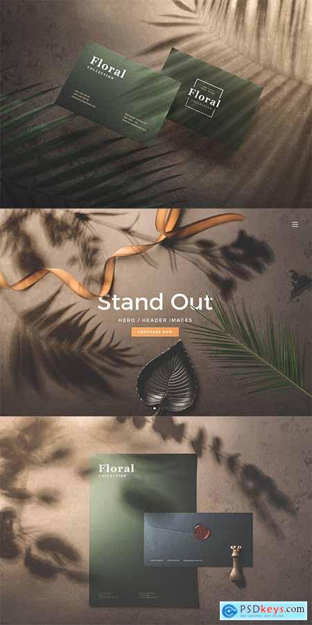 Shadows Overlays Branding Stationery Mockups