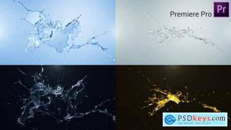 Water Splash Logo Reveal Premiere Pro 27440390