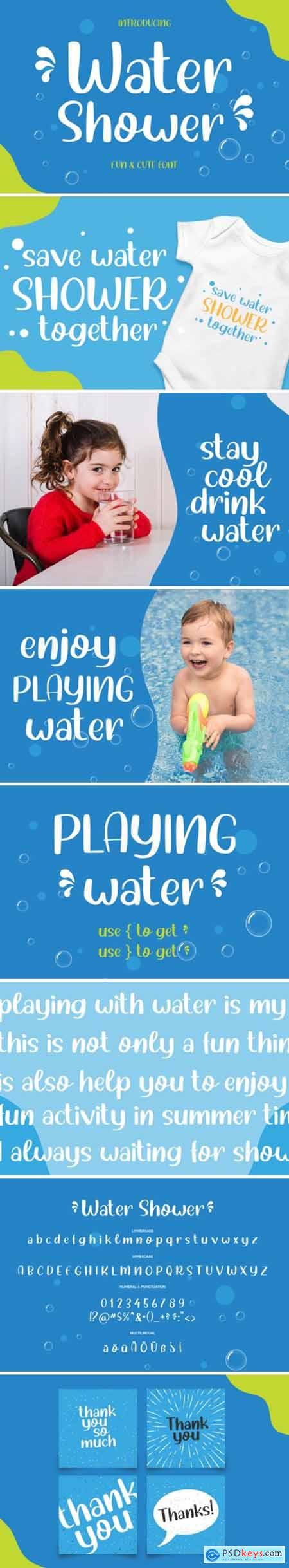 Water Shower Font