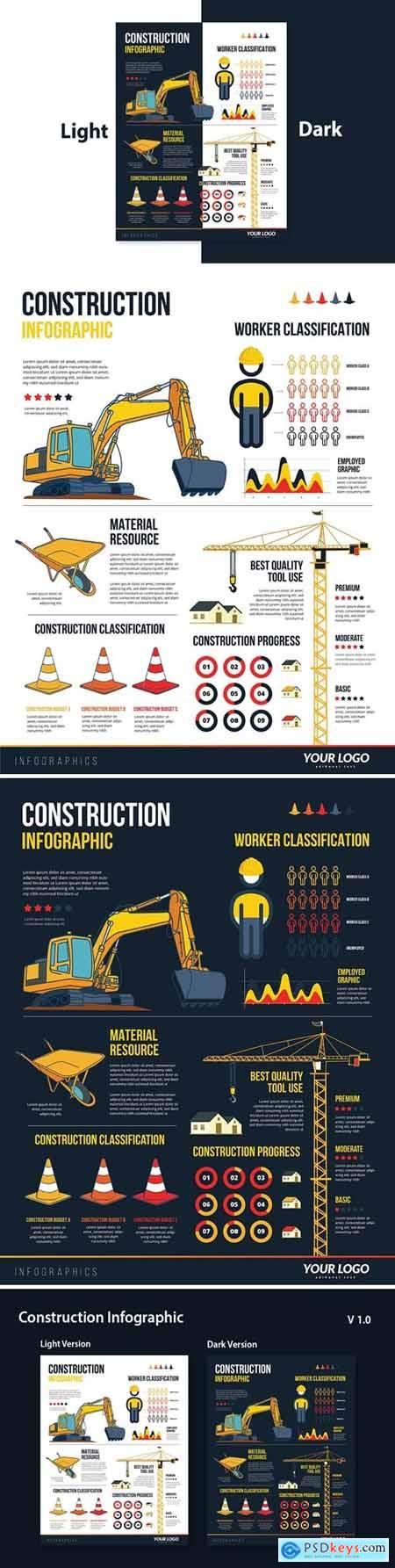 Infographic Elements for Construction Building