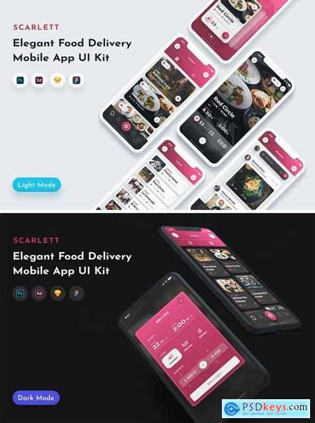 Scarlett Food App UI Kit