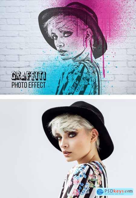 Graffiti Style Photo Effect 371481782