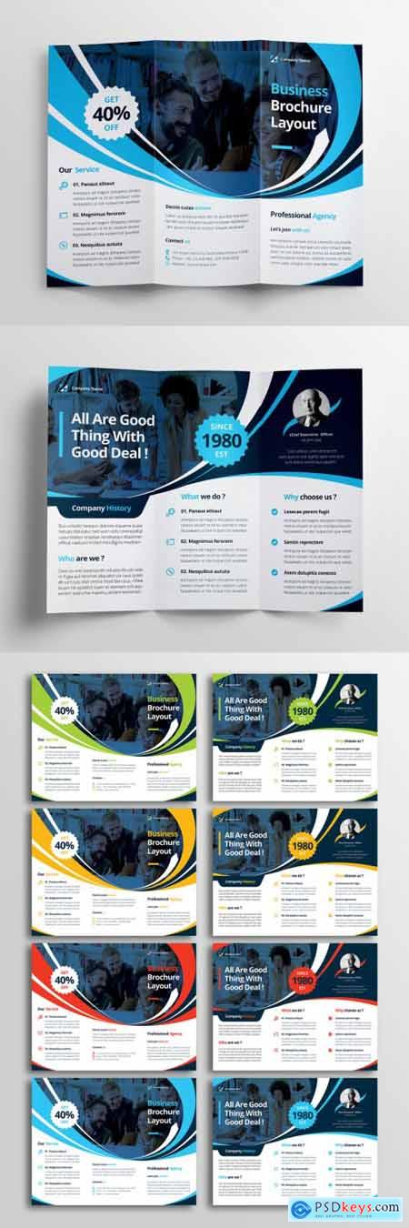 Trifold Business Brochure Layout 371292395