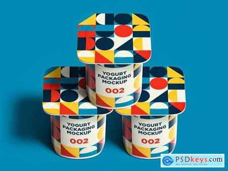 Yogurt Packaging Mockup 002