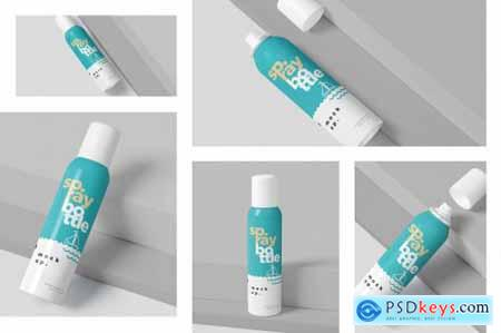 Metal Deodorant Spray Bottle Mockups 4711343