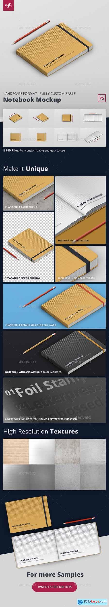 Notebook Mockup Landscape Format 28123874