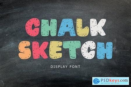 Chalk Sketch Display Font 5275777