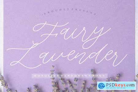 Fairy Lavender YH - Monoline Font