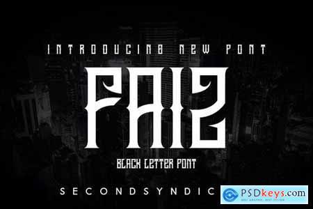 FAIZ - Blackletter Font