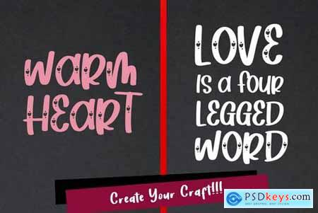 Heart Love - Crafty Lovely Font Duo
