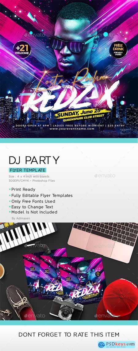DJ Party Flyer 25212397