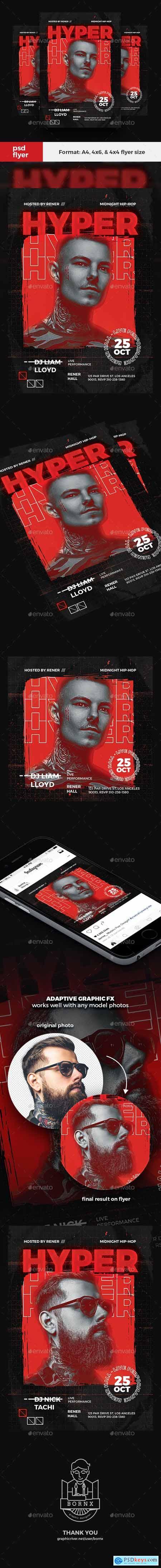 Hip Hop DJ Flyer 24484891