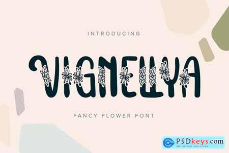 Vignellya Fancy Flower Font