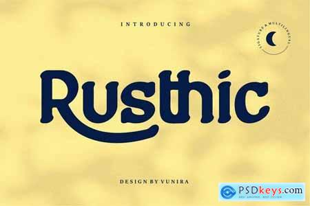 Rusthic Sans-Serif Font