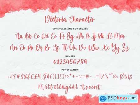 Victoria YH - Modern Script Font