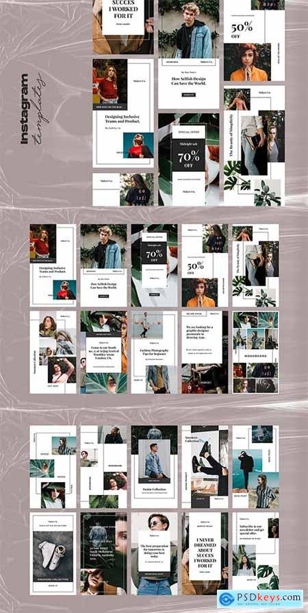 20 Instagram Stories Template