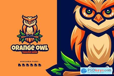 Orange Owl Character Logo