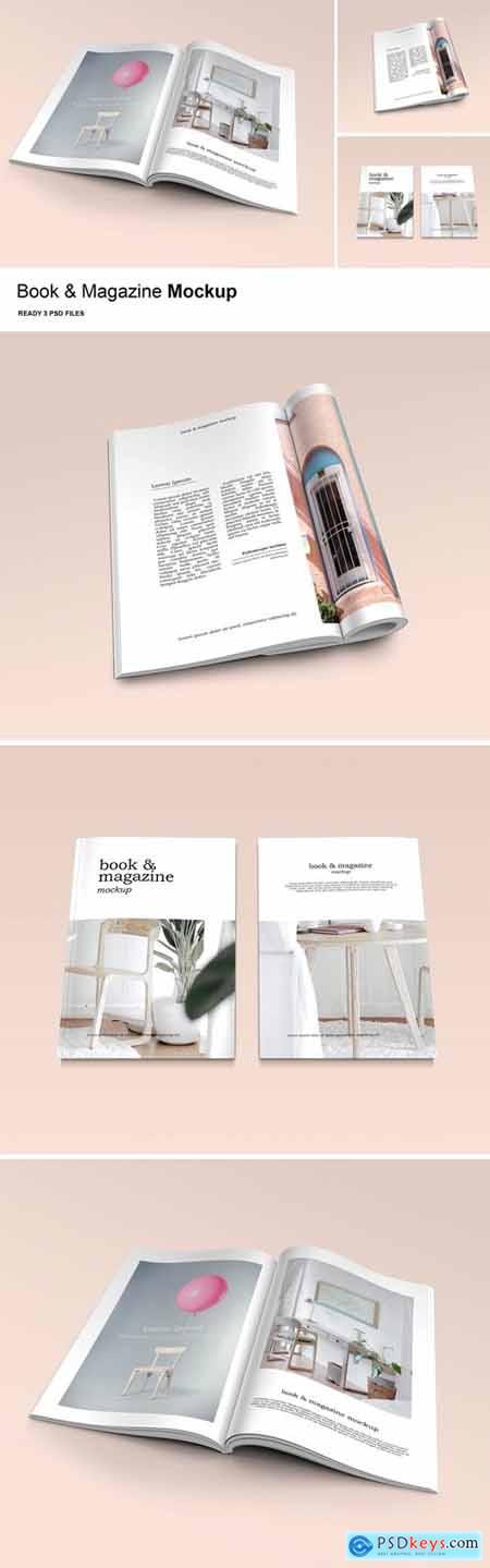 Book & Magazine - Mockup