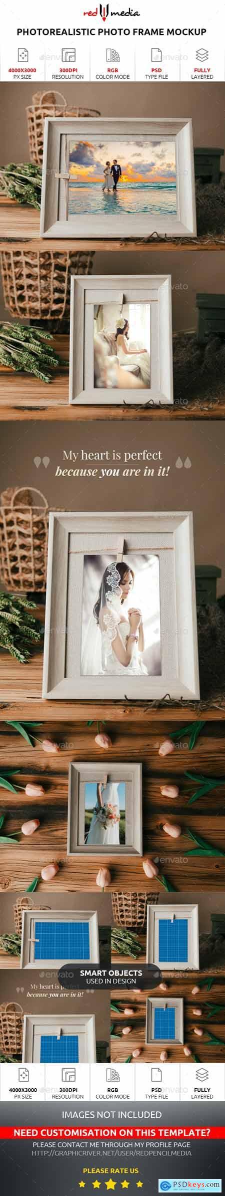 Photorealistic Photo Frame Mockup 28061571